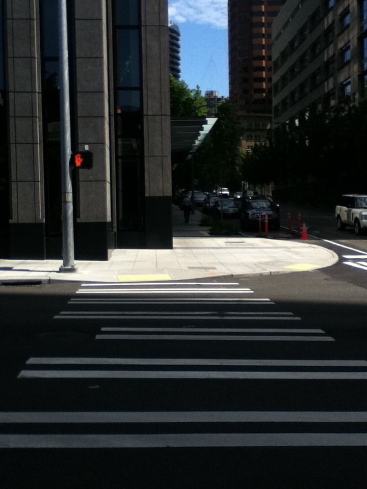 Crosswalk in Seattle