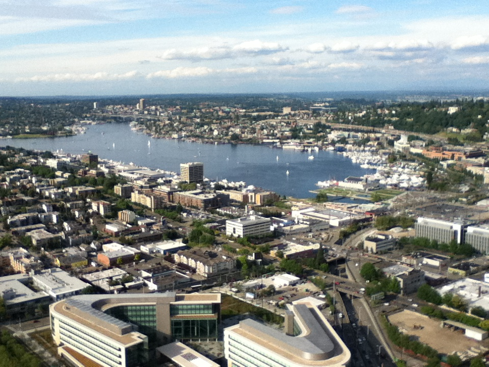 Seattle seen from the Space Needle